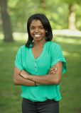 Afrikaanse Amerikaanse jonge vrouw Stock Foto's