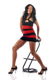 Afrikaanse Amerikaanse jonge vrouw Stock Foto