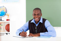 Afrikaanse Amerikaanse leraar stock foto's