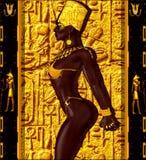 Afrikaanse Amerikaanse Manierschoonheid Een overweldigend kleurrijk beeld van een mooie vrouw met aanpassingsmake-up, toebehoren  Stock Fotografie