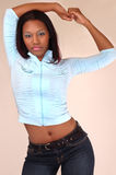 Afrikaanse Amerikaanse Mannequin Royalty-vrije Stock Foto