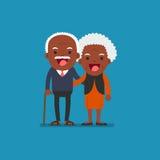 Afrikaanse Amerikaanse mensen - Teruggetrokken bejaarde hogere leeftijd Stock Foto