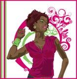 Afrikaanse Amerikaanse ModelDanser stock illustratie