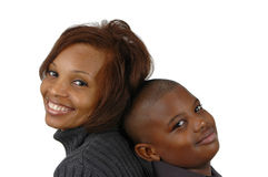 Afrikaanse Amerikaanse moeder en zo Royalty-vrije Stock Foto