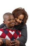 Afrikaanse Amerikaanse moeder en zo Royalty-vrije Stock Afbeeldingen
