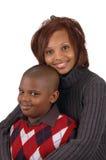 Afrikaanse Amerikaanse moeder en zo stock fotografie