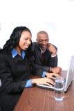 Afrikaanse Amerikaanse Partners Stock Fotografie