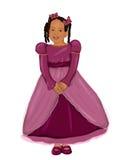 Afrikaanse Amerikaanse Prinses Stock Foto