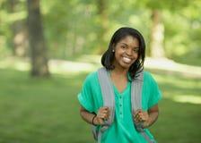 Afrikaanse Amerikaanse student stock foto