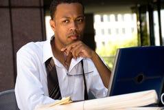 Afrikaanse Amerikaanse Uitvoerende Zakenman stock afbeelding