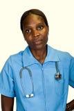 Afrikaanse Amerikaanse verpleegster Stock Foto's