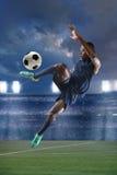 Afrikaanse Amerikaanse Voetballer Royalty-vrije Stock Fotografie