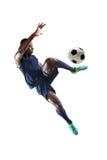 Afrikaanse Amerikaanse Voetballer Stock Afbeeldingen