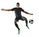 Afrikaanse Amerikaanse Voetballer Stock Foto's