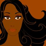 Afrikaanse Amerikaanse Vrouw 3 royalty-vrije illustratie