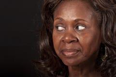 Afrikaanse Amerikaanse vrouw Stock Foto