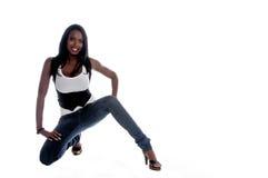 Afrikaanse Amerikaanse Vrouw stock foto's
