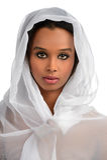 Afrikaanse Amerikaanse Vrouw met Sluier stock afbeeldingen