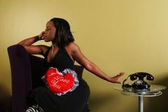 Afrikaanse Amerikaanse Vrouw Refusin royalty-vrije stock foto's