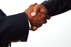 Afrikaanse Amerikaanse Zakenlieden die Handen schudden Royalty-vrije Stock Foto's