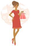 Afrikaanse Amerikaanse zwangere vrouw Royalty-vrije Stock Foto
