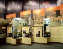 Afrikaanse Amerikanen in het militaire Tentoongestelde voorwerp binnen het Nationale Burgerrechtenmuseum in Lorraine Motel royalty-vrije stock fotografie