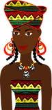 Afrikaanse Avatar van het Meisje Royalty-vrije Stock Foto's