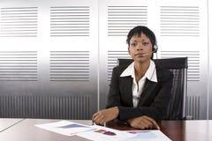 Afrikaanse BedrijfsVrouw Stock Foto