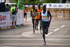 Afrikaanse Contingente Standard Chartered-Marathon Royalty-vrije Stock Foto