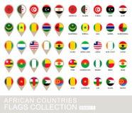 Afrikaanse de Vlaggeninzameling van Landen, Deel 1 Stock Afbeelding
