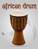 Afrikaanse de voorraad vectorillustratie van trommel muzikale instrumenten vector illustratie