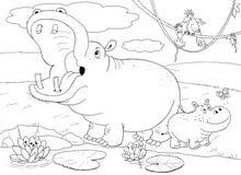 Afrikaanse dieren Leuke krokodillen Illustratie voor kinderen Royalty-vrije Stock Foto