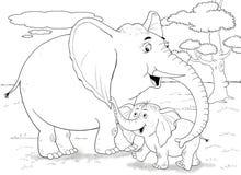 Afrikaanse dieren Leuke krokodillen Illustratie voor kinderen Stock Foto's