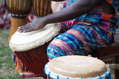 Afrikaanse djembe Royalty-vrije Stock Afbeelding