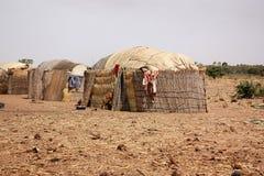 Afrikaanse dorpshutten Stock Foto