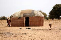 Afrikaanse dorpshutten Royalty-vrije Stock Foto's