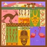 Afrikaanse etnische illustratie Stock Foto's
