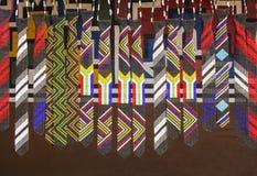 Afrikaanse etnische met de hand gemaakte parels kleurrijke banden Vlag van Zuid-Afrika Stock Afbeeldingen
