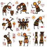 Afrikaanse etnische patronen Royalty-vrije Stock Foto