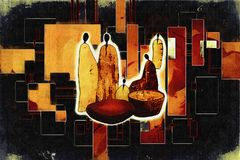 Afrikaanse etnische retro uitstekende illustratie Royalty-vrije Stock Afbeeldingen