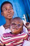 Afrikaanse familie Stock Afbeeldingen