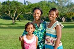 Afrikaanse familie royalty-vrije stock foto's