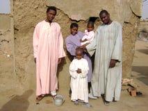 Afrikaanse familie Royalty-vrije Stock Afbeelding