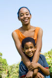 Afrikaanse familie Stock Fotografie