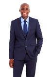 Afrikaanse geïsoleerdew zakenman Royalty-vrije Stock Fotografie