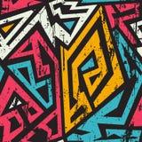 Afrikaanse geometrische naadloos met grungeeffect vector illustratie