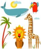 Afrikaanse geplaatste dieren Stock Foto's