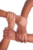 Afrikaanse geïsoleerde? handen Stock Afbeelding