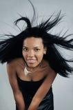 Afrikaanse haarschoonheid Stock Fotografie