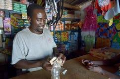 Afrikaanse handelaar royalty-vrije stock fotografie